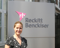 Verity Clawson outside Reckitt Benckiser