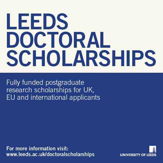 Leeds Doctoral Scholarships