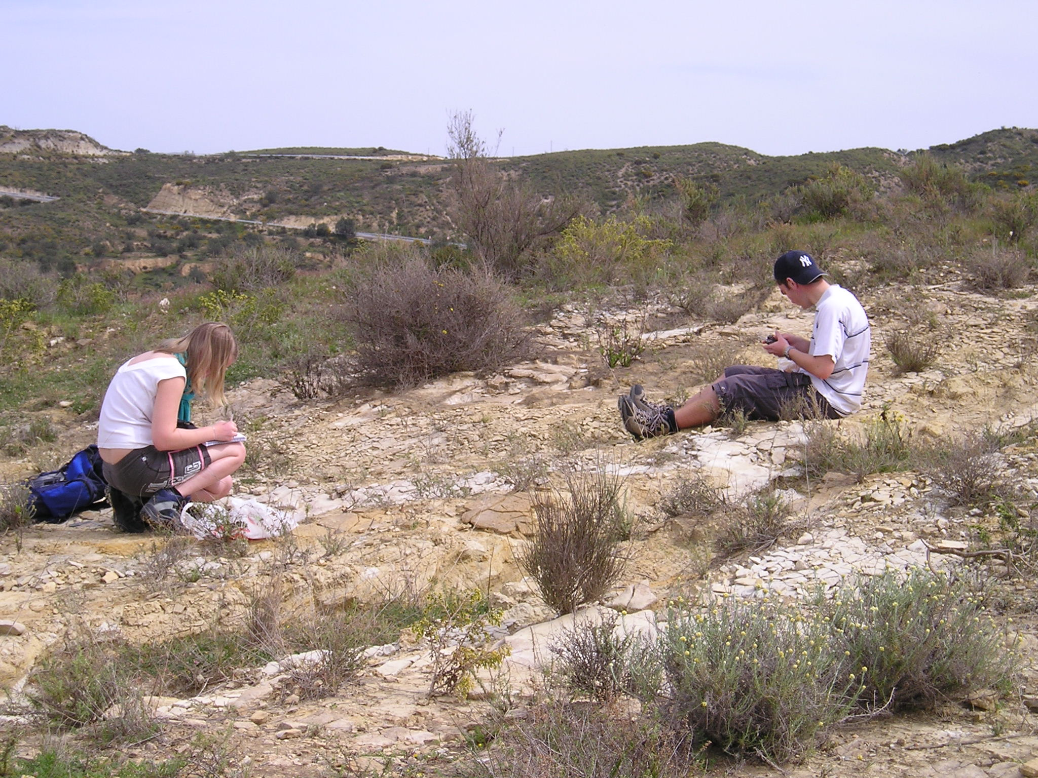 Most of the trip is spent working as a pair or group of three on a research project.