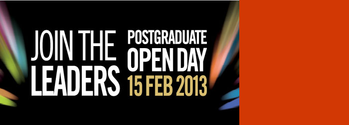 Explore a range of exciting study opportunities, and experience campus life at our postgraduate open day on 6 February 2015