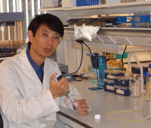 Dr Lin-Hua Jiang leads a team at Leeds interested in ion channels.