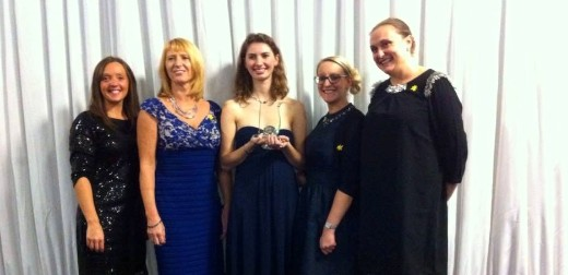 Hannah Wilks, Zoology student, honoured with the Young Achievers Award for her charity work with Marie Curie
